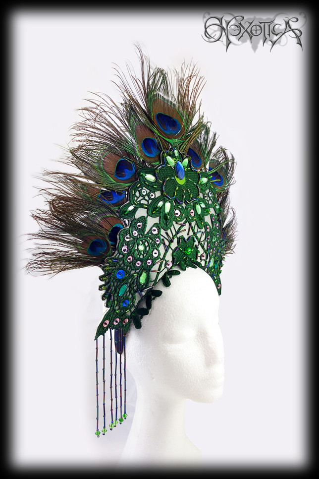 Peacock Feather Headdress Beads