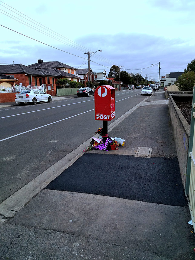 Cyclist Death Barkly Street post box