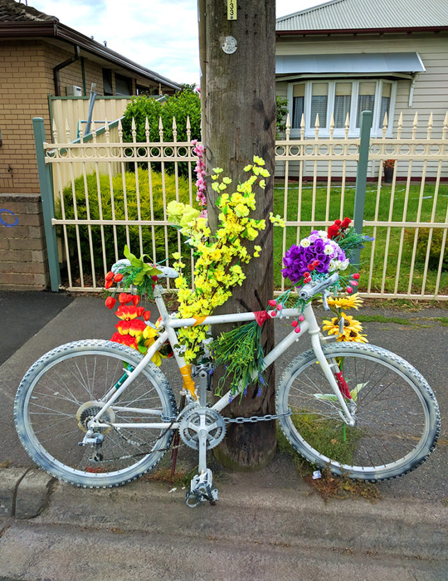 Cyclist Death Barkly Street bicycle memorial